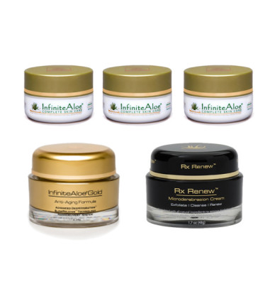 [PROMO] 3 Skin Care Travel Size + 1 InfiniteAloe Gold + 1 InfiniteAloe RX RENEW microdermabrasion